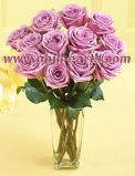 Valentines Rose- Medium Stemmed Lavender