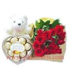 Send Teddy Rose and chocolate to Philippines