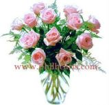 Pink Delights Rose Bouquet with vase