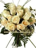 Stately and Reassuring White Rose Bouquet