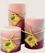 Three scented Candles