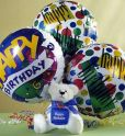 Birthday Teddy Bear Balloon Arrangement