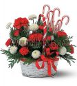 Christmas Bouquet - Candy Cane Basket