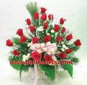 Red rose in Basket
