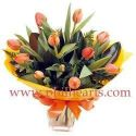 Mixed Warm Colored Tulips