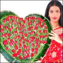 100 pcs Red  ROSES Heart