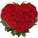 72PCS RED ROSES HEART