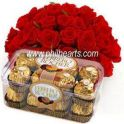 Red Bouquet and Ferrero Rocher