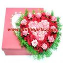 Roses in a Pink Box