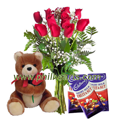 Send valentines combo gifts to Philippines, send  gifts to manila, valentine%u2019s teddy rose and chocolate to Philippines, send gift to Philippines, valentines gift  to manila,  Philippines flower, valentines  gifts to Philippines, Philippines online gifts flower, cheap valentine%u2019s gifts philippines